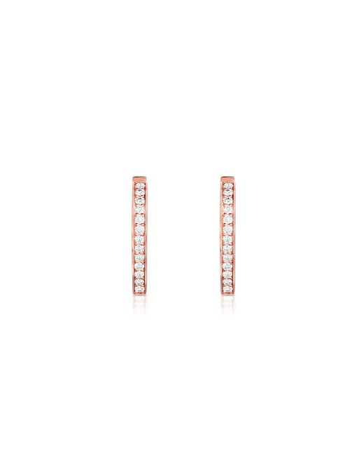Carbon & Hyde | Pink Small Drop Huggies | Lyst
