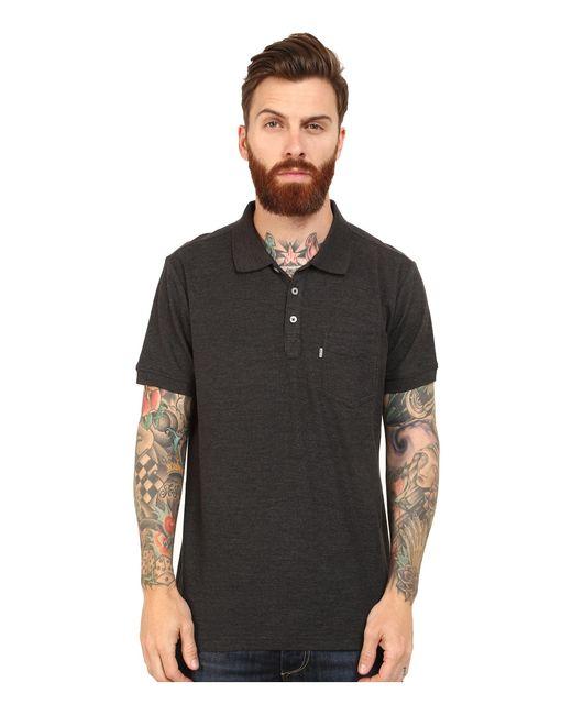 Levi's | Black Rillo Pique Polo Shirt for Men | Lyst