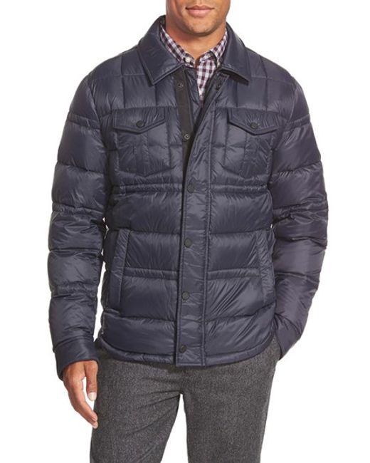 Michael Kors | Blue Down Shirt Jacket for Men | Lyst