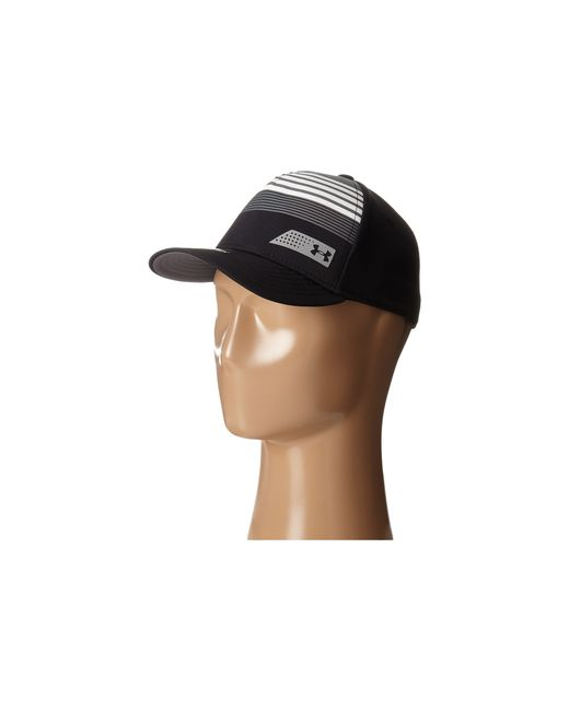 Under Armour | Black Ua Striped Low Crown Cap (youth) for Men | Lyst