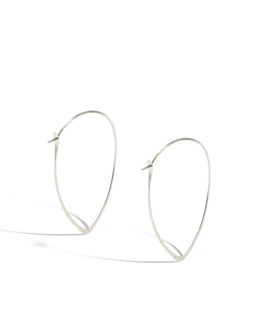 Melissa Joy Manning | Metallic 1.5 Inch Large Leaf Hoops | Lyst