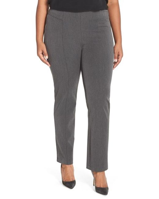 Vince Camuto | Gray Seam Detail Pants | Lyst