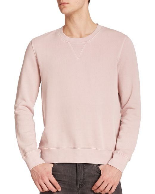 BLK DNM | Pink Dyed Crewneck Sweatshirt for Men | Lyst