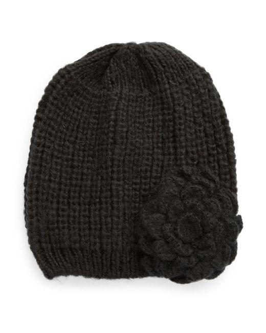Wooden Ships | Black Knit Flower Beanie | Lyst