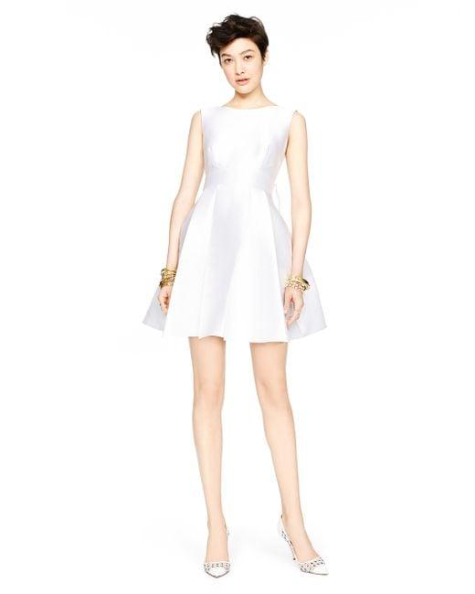 kate spade new york | White Open Back Silk Mini Dress | Lyst