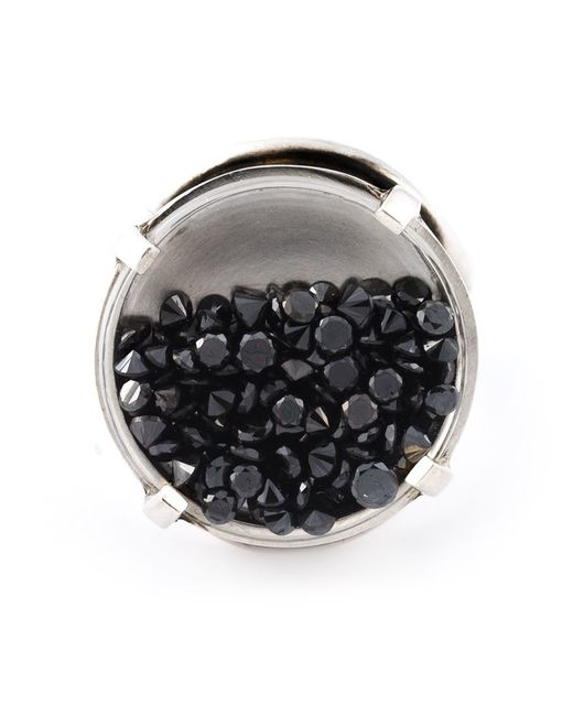 Ann Demeulemeester | Metallic Diamond Medallion Ring | Lyst