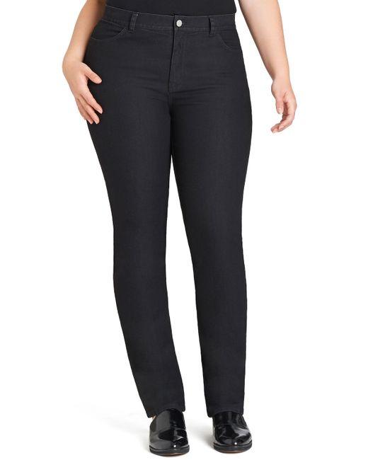 Lafayette 148 New York | Black Curvy Slim-leg Jeans | Lyst