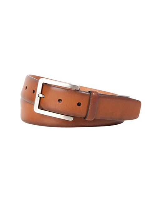 Trafalgar | Brown 'kane' Leather Belt for Men | Lyst