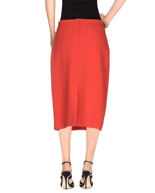 just in knee length skirt in lyst
