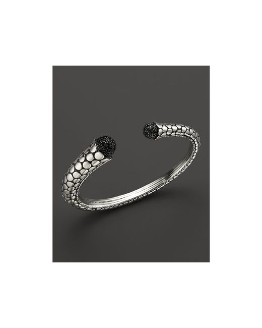 John Hardy | Metallic Women's Dot Silver Lava Kick Cuff With Black Sapphire | Lyst