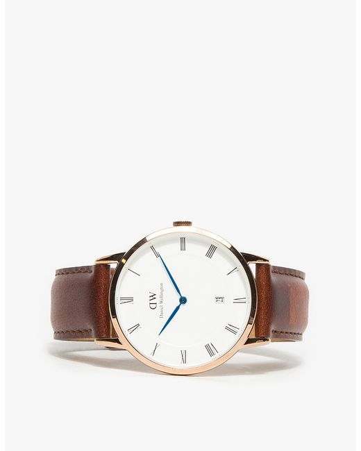 daniel wellington dapper st mawes in rose gold in pink for men rose gold lyst. Black Bedroom Furniture Sets. Home Design Ideas