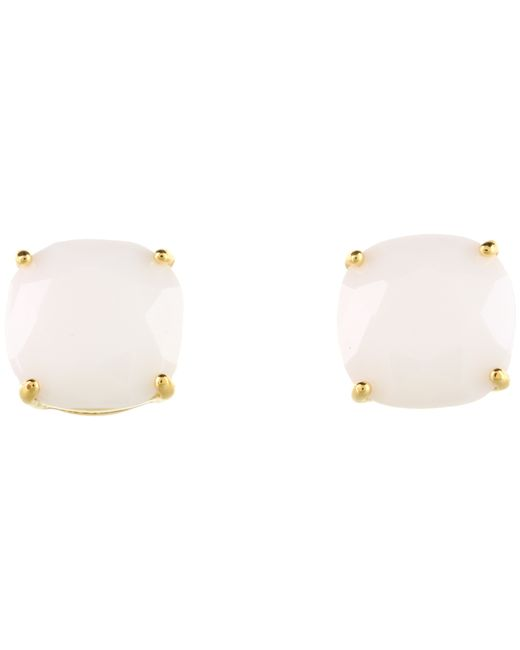 kate spade new york | White Small Square Studs | Lyst