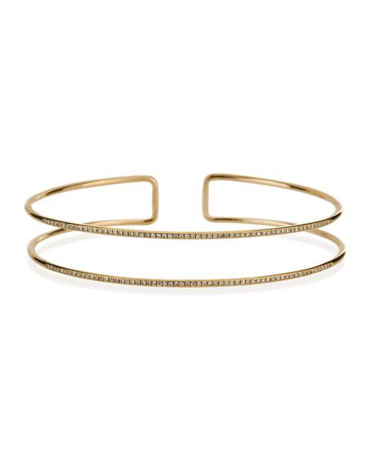 EF Collection | Metallic Diamond Double Bangle Bracelet | Lyst
