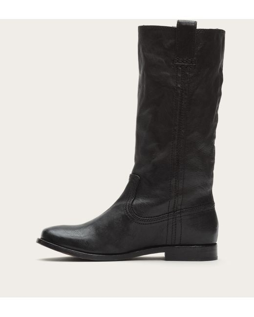 Frye | Black Anna Mid Pull On | Lyst