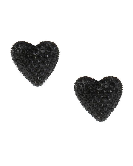 Betsey Johnson | Black Heart Stud Earrings | Lyst