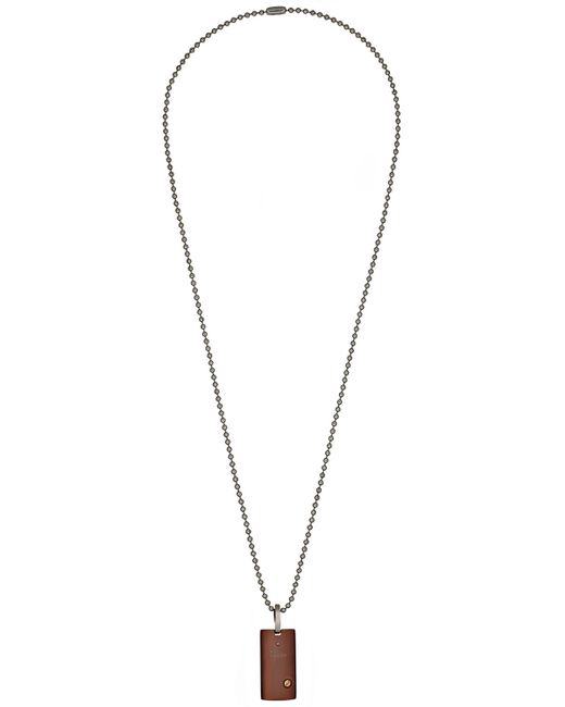 Bliss by damiani Brown Stainless Steel Uomo Pendant ...