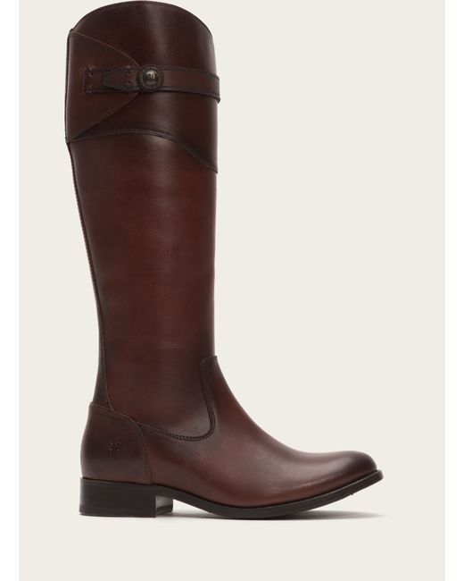 Frye | Brown Molly Button Tall | Lyst