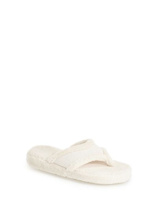 Acorn | Natural Waffle Spa Slippers | Lyst
