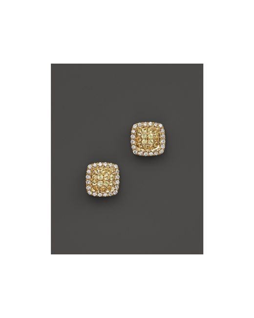 Dana Rebecca | Metallic 14k Yellow Gold Emily Sarah Square Stud Earrings With Yellow Sapphire And Diamonds | Lyst