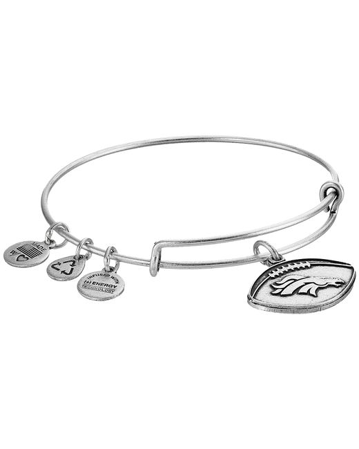 ALEX AND ANI | Metallic Nfl Denver Broncos Football Bangle | Lyst