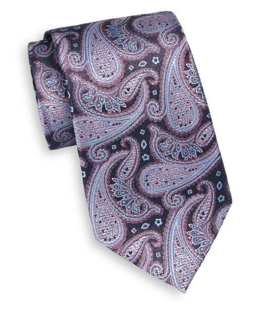 Burma Bibas | Blue Paisley Teardrop Silk Tie for Men | Lyst