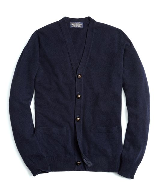 Brooks Brothers | Blue Cashmere Button-front Cardigan for Men | Lyst