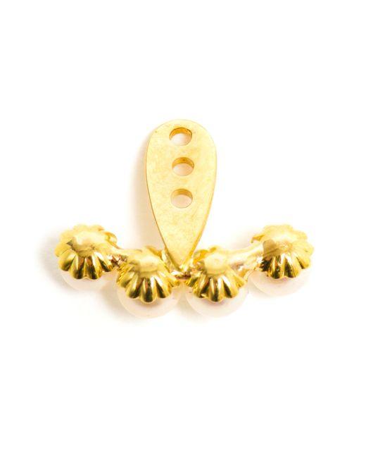 Yvonne Léon | White 18k Gold Four Pearl Lobe Earring | Lyst