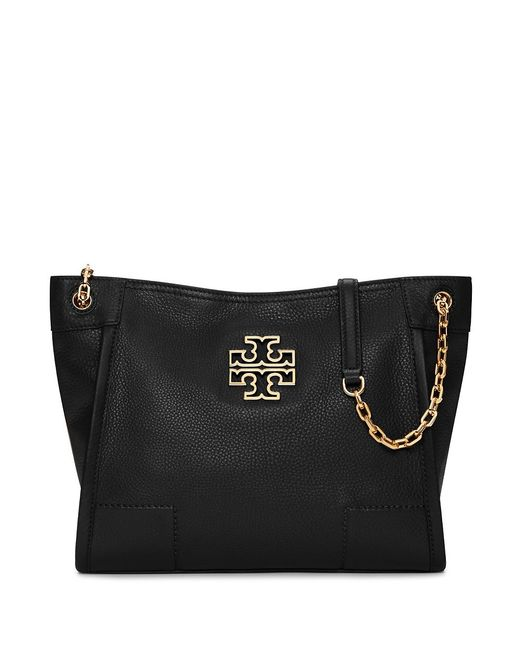 Tory Burch | Black Britten Small Slouchy Tote | Lyst