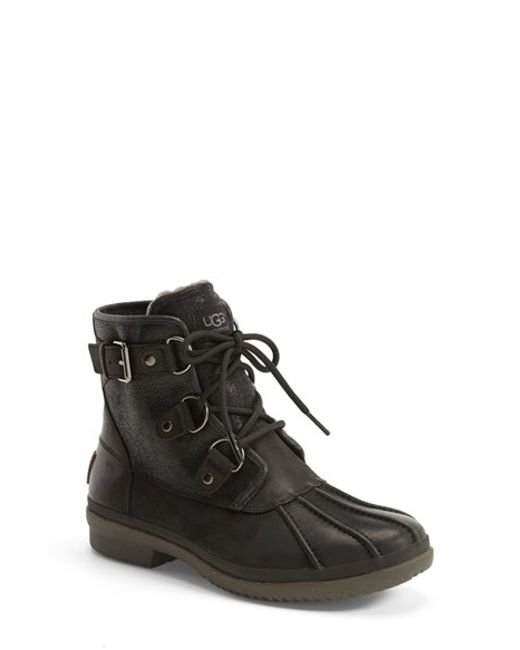 Ugg | Black Ugg Cecile Waterproof Boot | Lyst