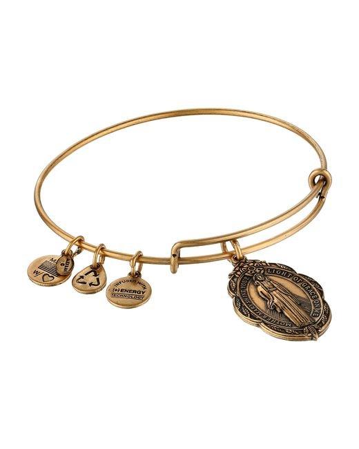 ALEX AND ANI | Metallic Mother Mary Charm Bangle Ii | Lyst
