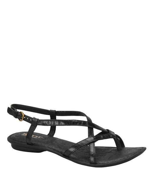 Born | Black Mai Full-grain Leather Sandals | Lyst