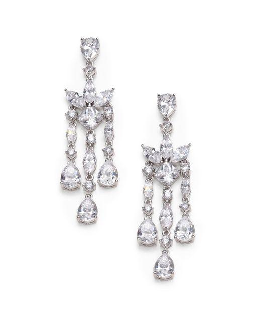 Adriana Orsini | Metallic Fringe Chandelier Earrings | Lyst