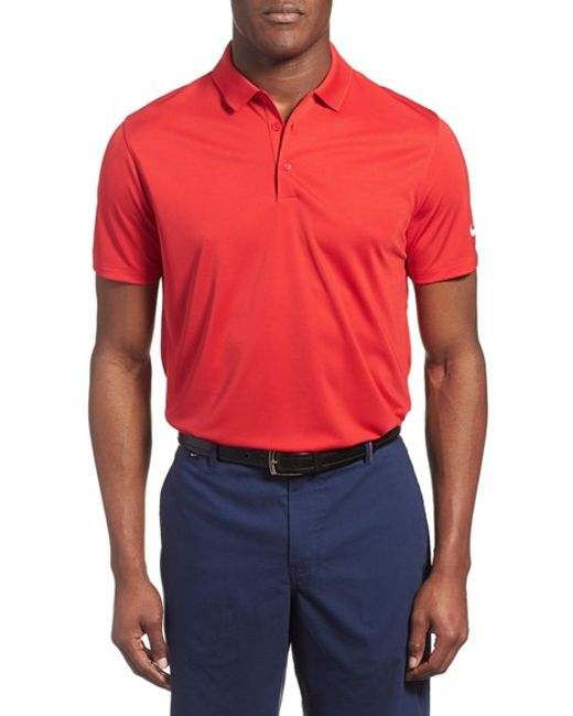 Nike 39 victory dri fit golf polo in orange for men lyst for Nike dri fit victory golf shirts