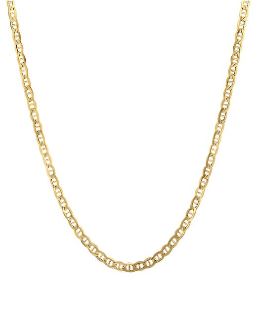 lord amp taylor 14k yellow gold rope chain link necklace in