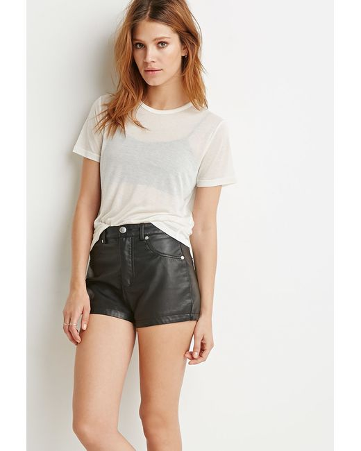 Forever 21 | Natural Contemporary Sheer Classic Tee | Lyst