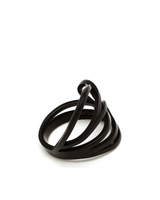 Repossi | Black Chromium Plated 18k Gold Layered Ring | Lyst