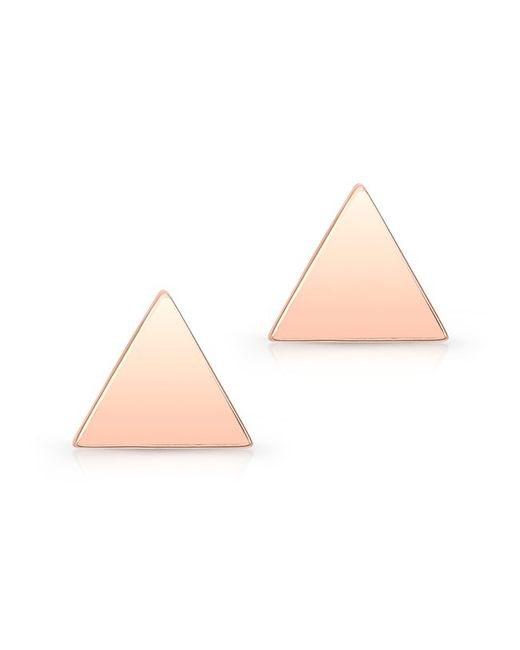 Anne Sisteron - Pink 14kt Rose Gold Triangle Stud Earrings - Lyst