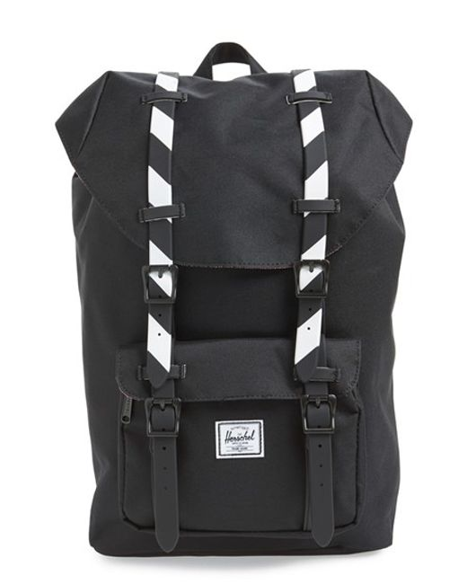 Herschel Supply Co. | Black 'little America- Mid Volume' Backpack | Lyst