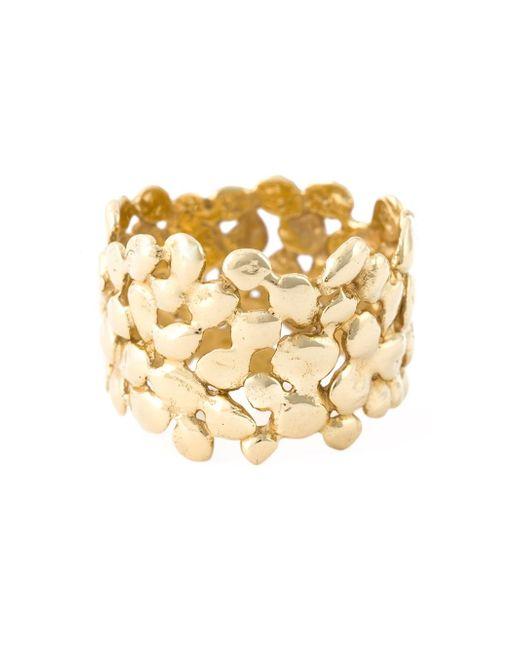 Natasha Collis   Metallic 18kt Yellow Gold Cobbled Ring   Lyst