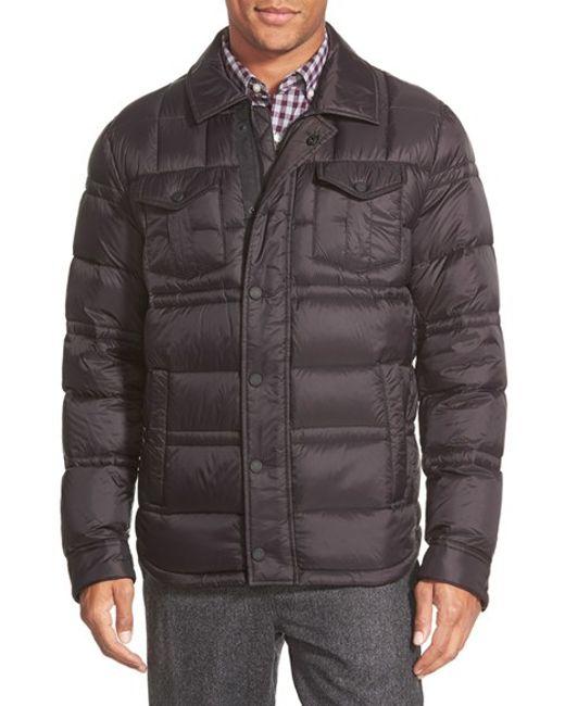 Michael Kors   Black Down Shirt Jacket for Men   Lyst