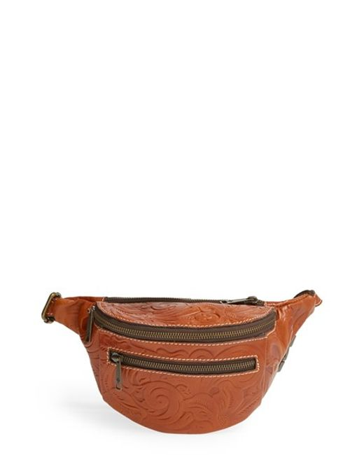 Patricia Nash | Brown 'tooled Cologne' Leather Fanny Pack | Lyst