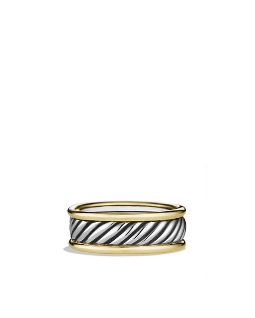 David Yurman | Metallic Cable Band Ring With 14k Gold for Men | Lyst