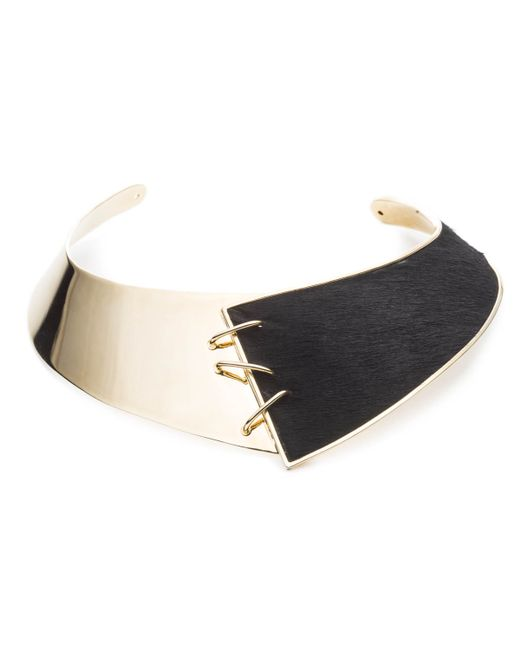 Alexis Bittar | Metallic Whipstitch Calf Hair Collar You Might Also Like | Lyst