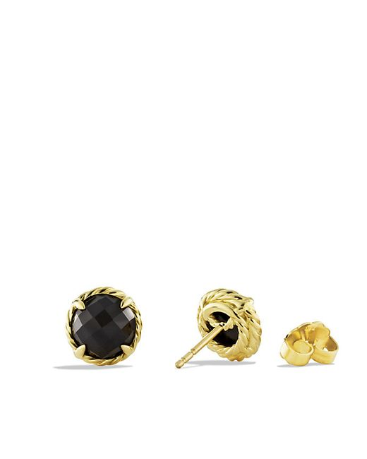 David Yurman | Chatelaine Earrings With Black Onyx In 18k Gold | Lyst