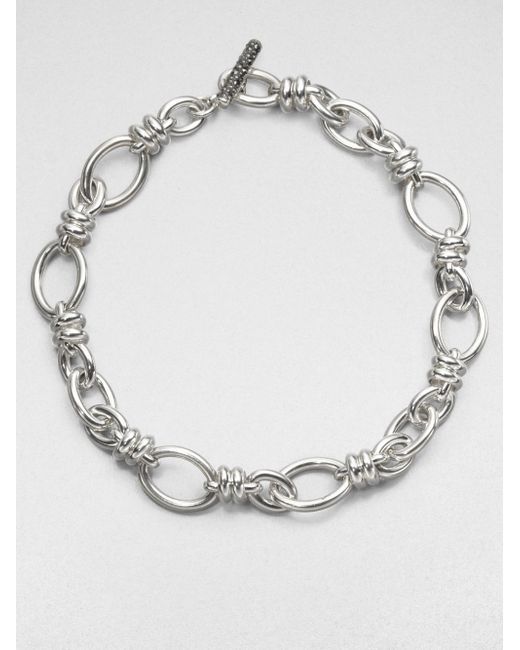 Pomellato | Metallic Sterling Silver Rondelle Link Necklace | Lyst