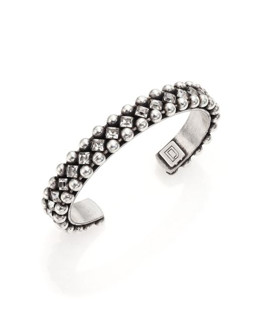 DANNIJO | Metallic Doris Crystal & Chain Cuff Bracelet | Lyst