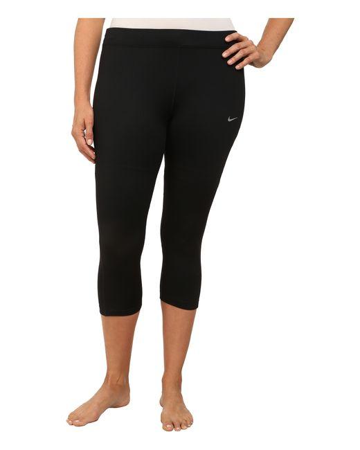 Nike | Black Dri-fit™ Essential Running Crop (size 1x-3x) | Lyst