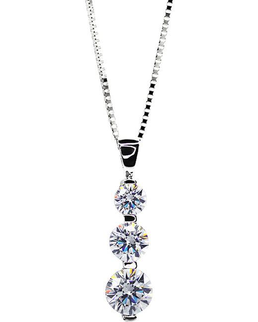 Carat* | Blue 3 Times Round Drop Pendant Necklace | Lyst