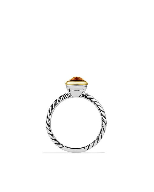 David Yurman | Orange Color Classics Ring With Gold | Lyst