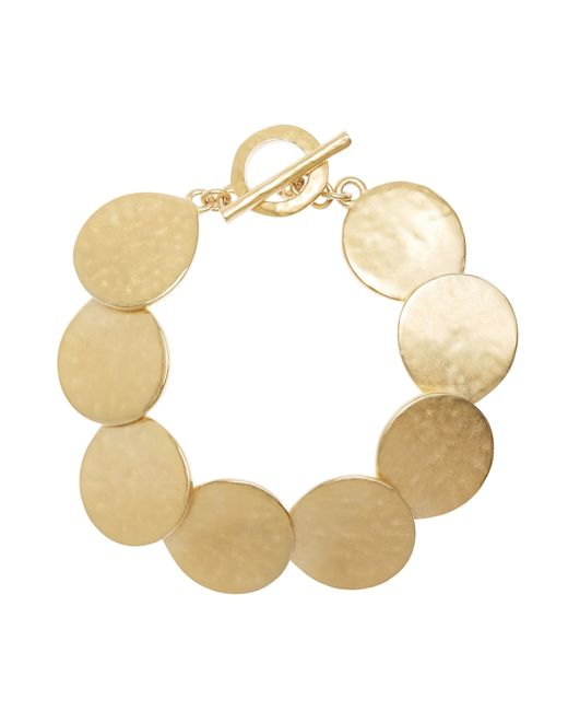 Brooks Brothers | Metallic Gold Hammered Bracelet | Lyst